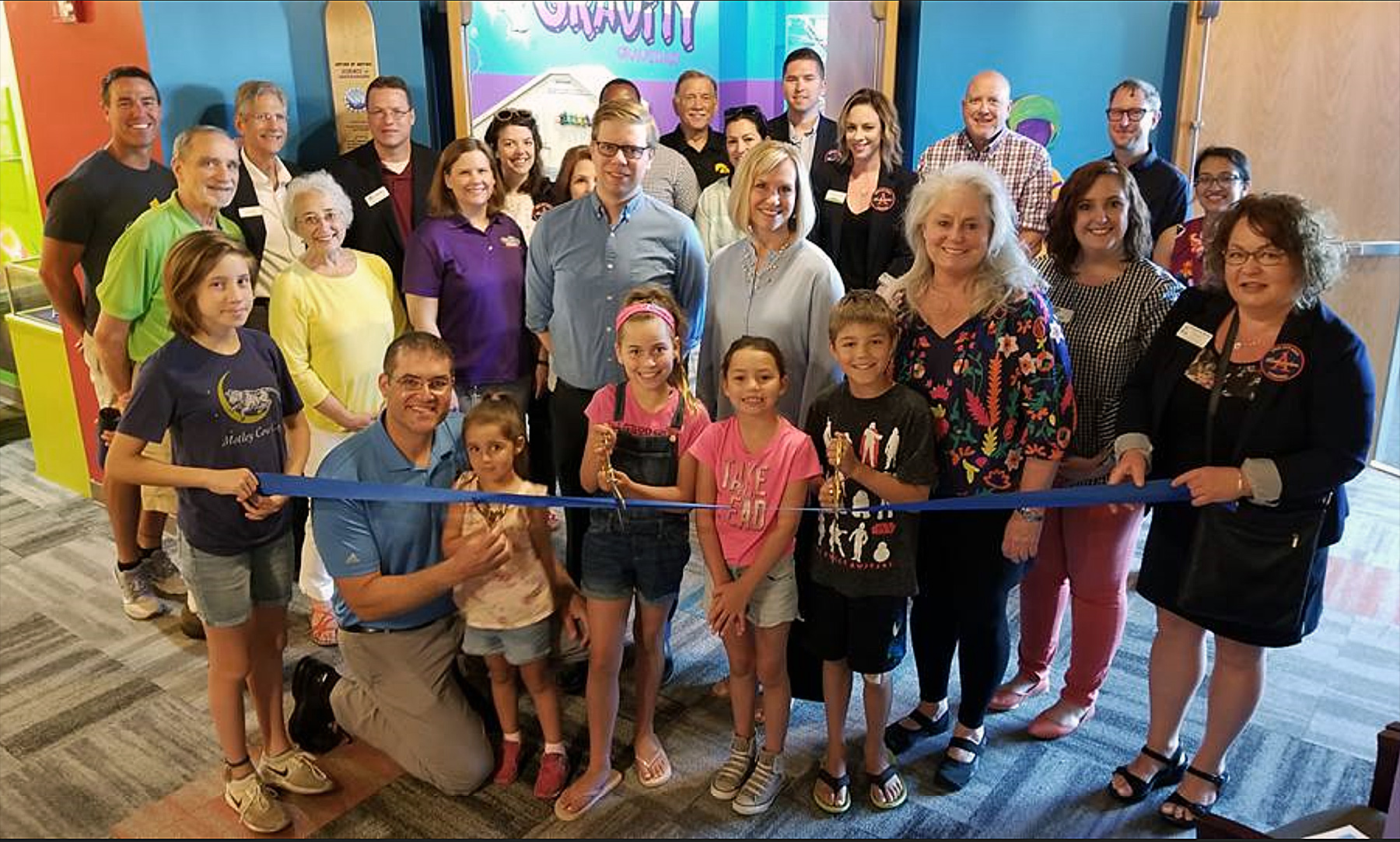Ribbon cutting Childrens Museum